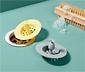 Silikonowe sitka do odpływu z uchwytem w kształcie ananasa, 2 sztuki