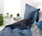 Kétoldalas flanel ágynemű, kék, kétszemélyes