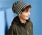 Dwustronna czapka beanie z bawełną