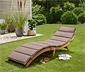 Sklápacie záhradné ležadlo