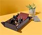 Bőrhatású asztali tároló