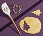 Szilikon tésztakaparó lapát, kiszúróval