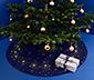 LED-es takaró fenyőfa alá, kék