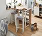 Kuchyňský pult se stoličkami