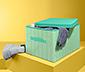 Úložný box s víkem, barevný