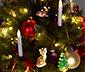 Vánoční koule s LED, 6 ks