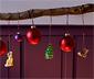 3 karácsonyfadísz szettben, róka/őz/fenyő
