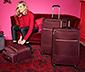 Textilní kufr, velký