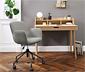 Kárpitos íróasztali szék, világosszürke