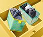 Pojemniki do szuflad, prostokątne, 2 sztuki
