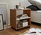 Nočný stolík na kolieskach, dubový dekor