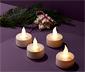 Čajové sviečky s LED, 4 ks