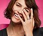 3 női gyűrű, lila/rózsaszín, Swarovski® kristályokkal