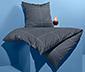 Ciemna pościel z perkaluw kratę, 155 x 220 cm / 80 x 80 cm
