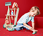 Dřevěný úklidový vozík na hraní