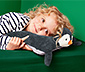 Vankúšik »Tučniak« s priehradkou na pyžamo