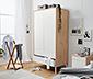 2-dverová šatníková skriňa, šírka cca 100 cm, dubový dekor