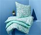 Jasnoniebieska, dwustronna pościel ze wzmocnionej bawełny, 155 x 220 cm / 80 x 80 cm