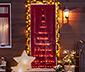 Silueta vánočního stromečku s LED