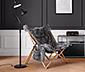 Összecsukható lounge szék, szürke