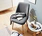 Krzesło tapicerowane z litym drewnem dębowym