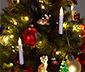 Svíčky s LED na vánoční stromeček, 30 ks