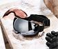 Skibrille mit magnetischen Wechselscheiben