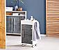 Łazienkowa szafka na kółkach ze szklanymi drzwiami