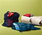 Woreczki z siatki ze sznurkiem ściągającym i stoperem, 3 sztuki