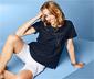 Blúzkové tričko s ažúrovou výšivkou