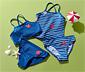 Tankini i bikini dziecięce z ramiączkami skrzyżowanymi na plecach, zestaw