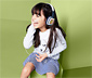 Detské slúchadlá s vymeniteľnými kartičkami na vymaľovanie