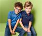2 fiú pólóing szettben, kék/csíkos