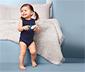 5 kisgyerek ujjatlan body szettben, kék/fehér