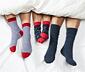 Gri Beyaz Mavi Organik Pamuklu Çorap