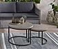 Konferenčný stolík v betónovom vzhľade, okrúhly, súprava 2 kusov