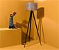 Lampadaire « Trépied » avec abat-jour en bois