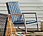 Garten-Schaukelstuhl mit Polsterauflagen
