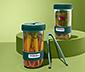 Zestaw 2 pojemników Lékué do robienia domowych kiszonek, każdy ok. 700 ml