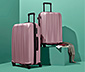 Sada kufrů z tvrdé skořepiny, střední a velký