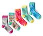 Ponožky, 5 párů, červeno-zelené