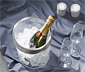 Champagnekøler med rustfri stålramme