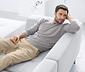 Kašmírový pulovr, šedý s melírem