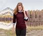 Női finomkötésű pulóver, bordó