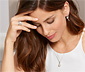 Stříbrný prsten s perlou z lasturového jádra a zirkony*