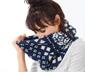 Pletený dutý šál