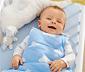 Baby-Schlafsack, blau-weiss
