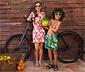 Renkli Motifli Pembe Çocuk Güneş Gözlüğü