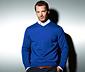 Sweter z delikatnej dzianiny, niebieski