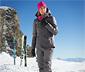 Női sí- és snowboard dzseki, sötétszürke